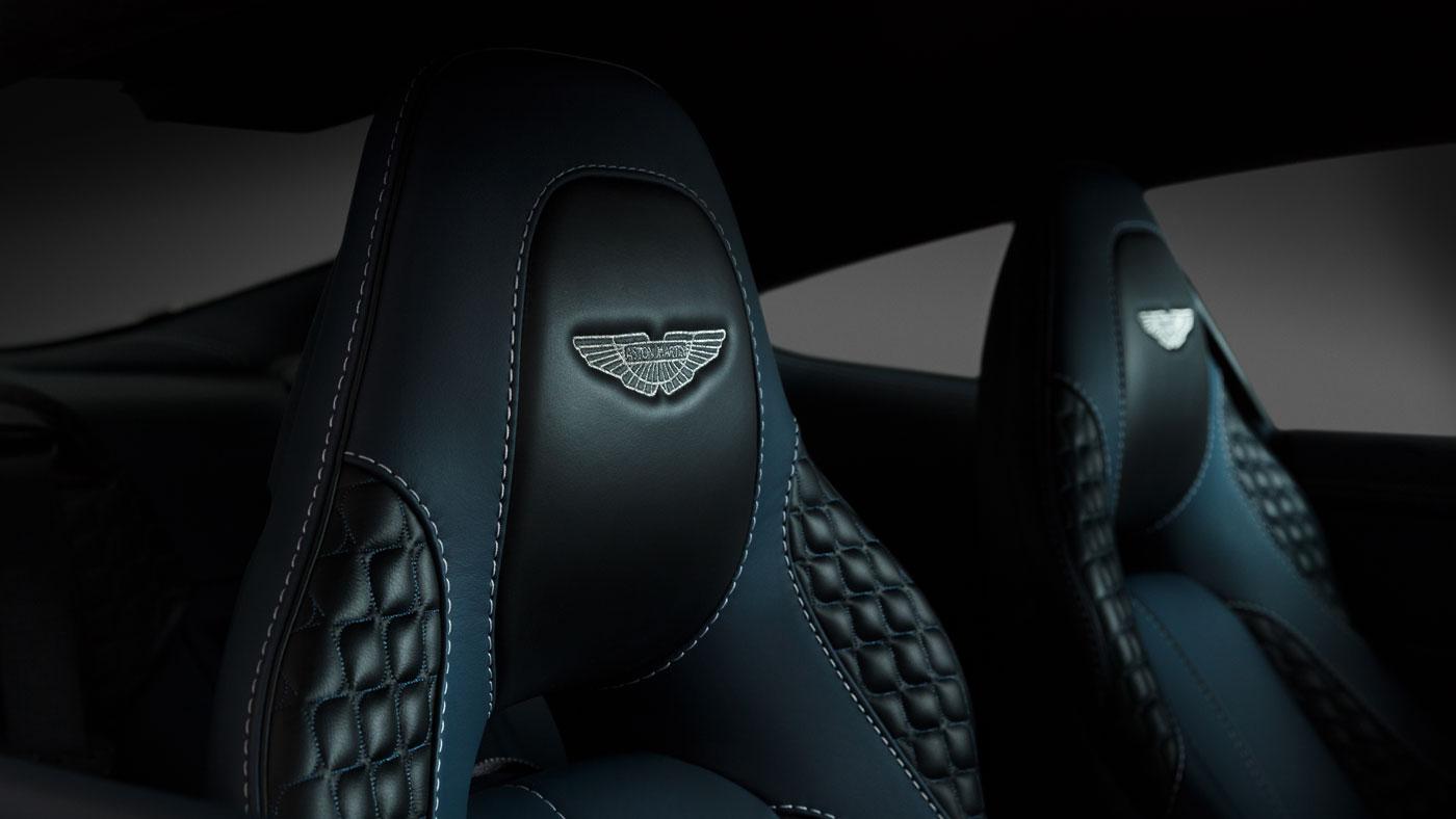 The interior of Daniel Craig's 2014 Aston Martin Centenary Edition Vanquish.
