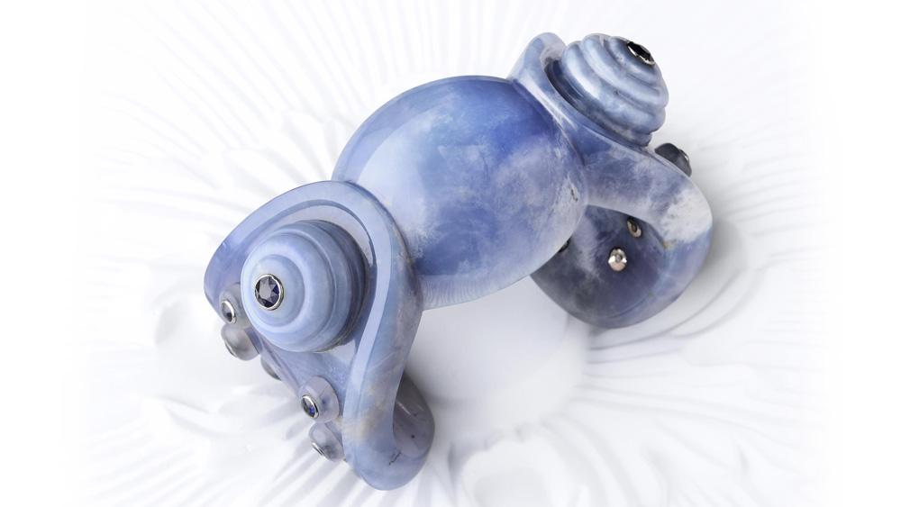 Belperron Blue Chalcedony Cuff