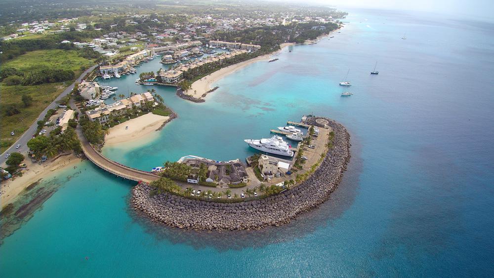 Barbados aerial view