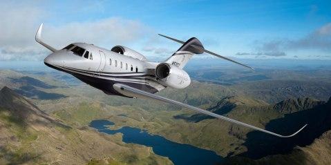 Cessna Citation X+ in flight