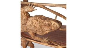 Claude Lalanne's gilt-bronze banquette crocodile (2007), detail.