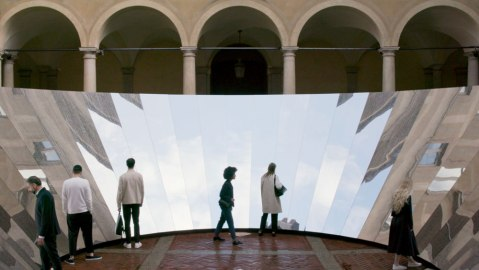 Phillip K Smith and COS mirrored installation in Milan