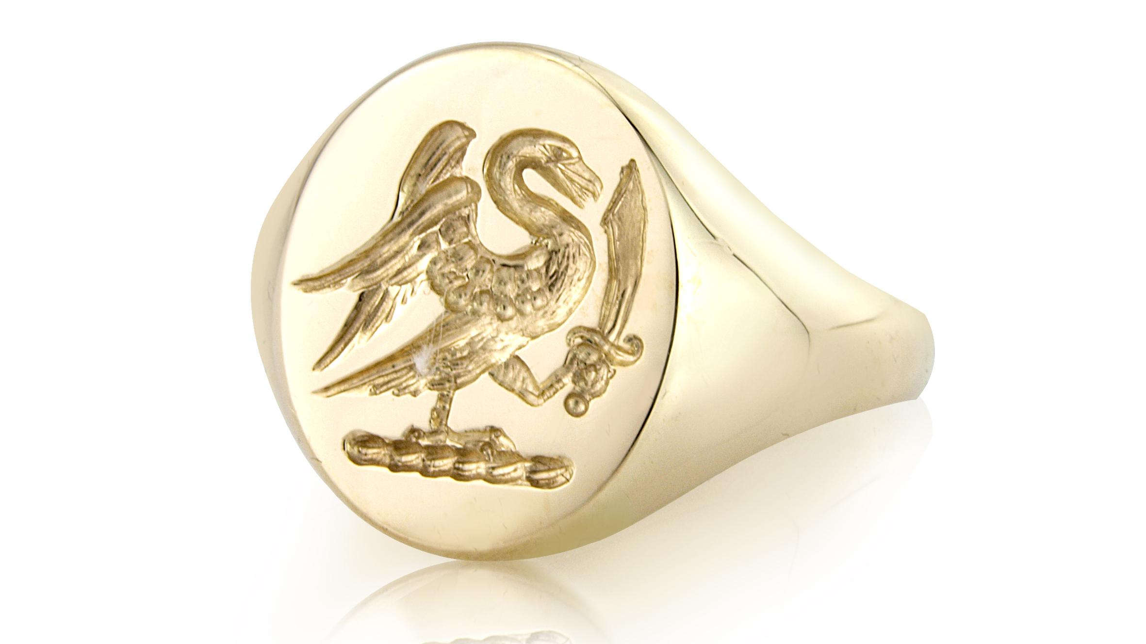Swan Signet Ring from Rebus