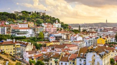 Lisbon Portugal aerial view