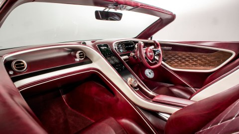 The interior of Bentley's EXP 12 Speed 6E Concept.