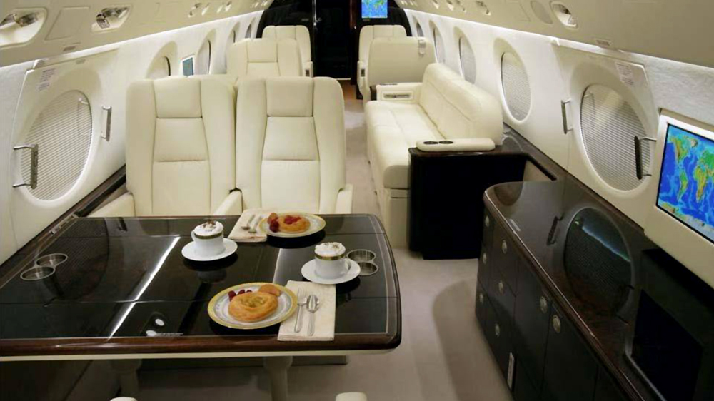 Gulfstream G550 business jet private aviation