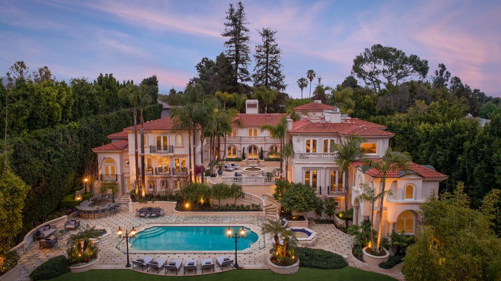 Bel Air Mansion aerial
