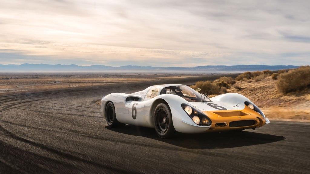 A 1968 Porsche 908 Racer.