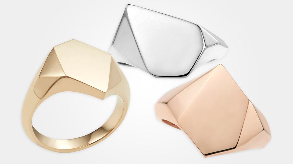 New Kournas signet rings from London-based brand Rebus.
