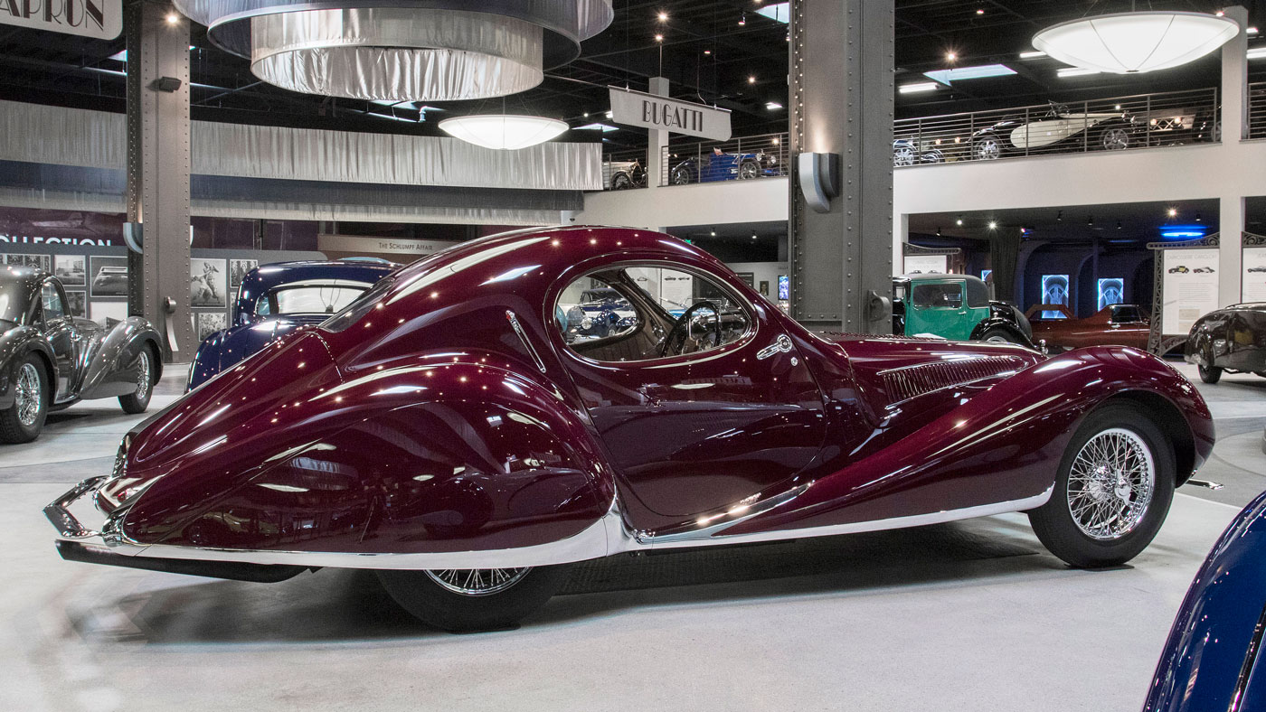 1937 Talbot-Lago T150 C-SS at the Mullin Automotive Museum.