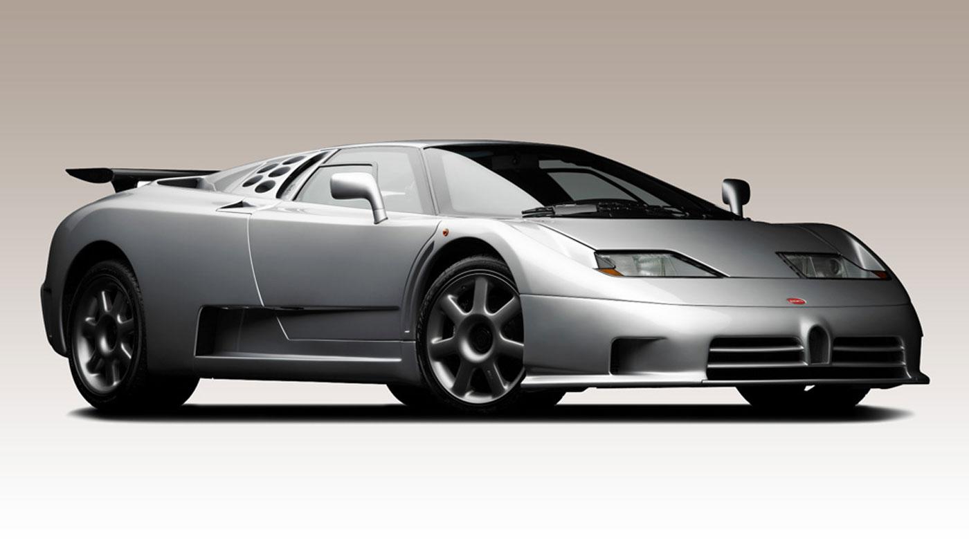 A 1994 Bugatti EB110 SS.