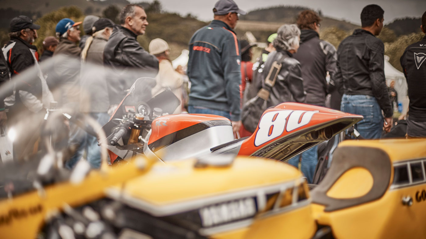 A scene from the Quail Motorcycle Gathering.