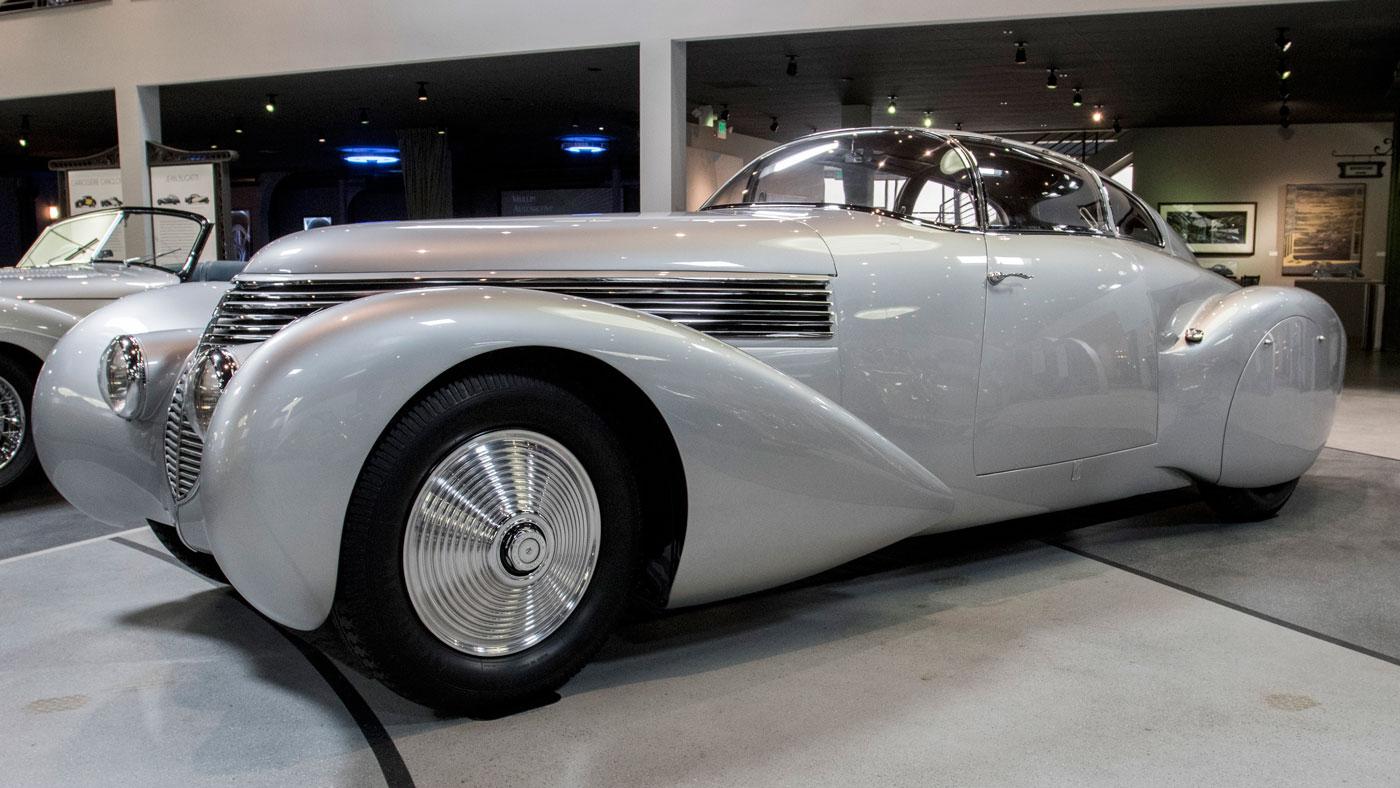 The 1938 Dubonnet Hispano-Suiza H6B 'Xenia' at the Mullin Automotive Museum.