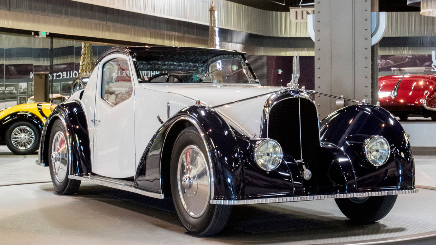 The 1945 Voisin Type C27 Aérosport Coupe at the Mullin Automotive Museum.
