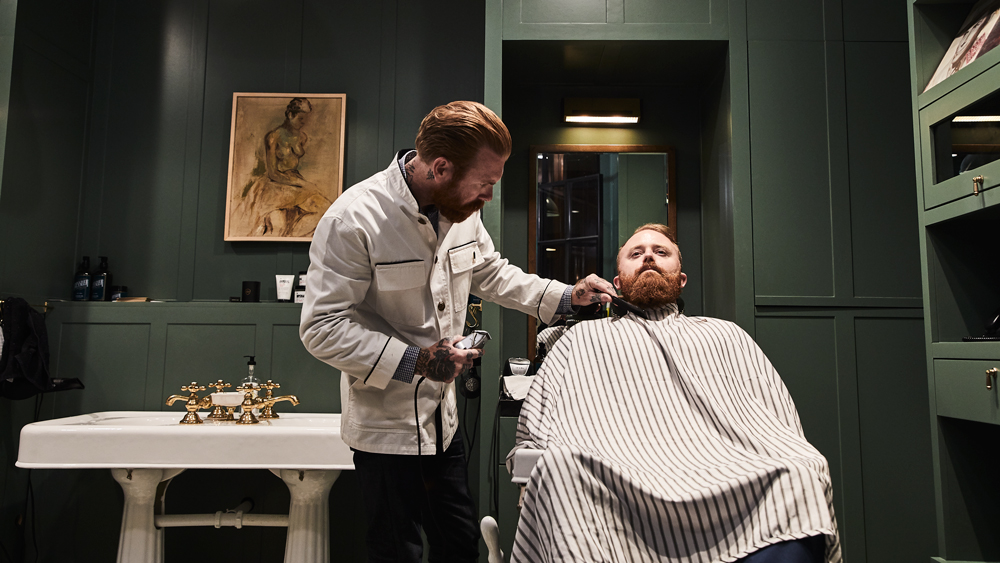 The Adolphus Hotel barber
