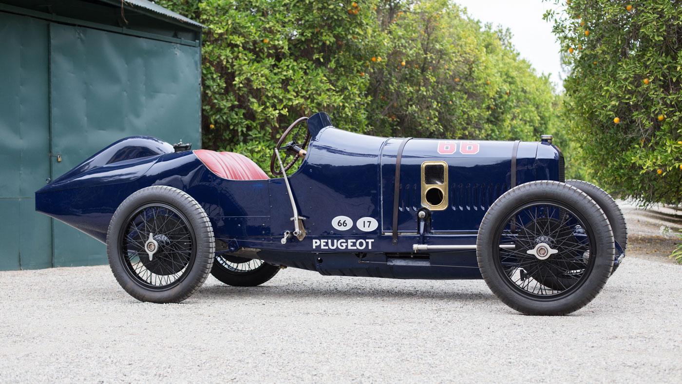 A 1914 Peugeot L45 Grand Prix Racer.