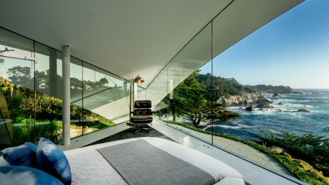 oceanfront master suite in Carmel, California