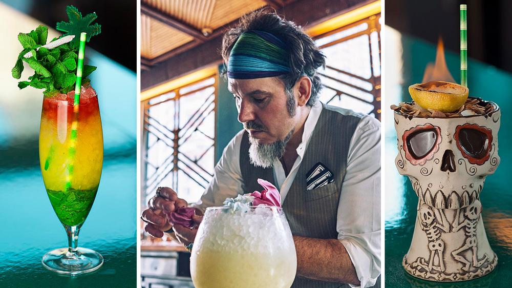 Bartender Brian Miller at the Polynesian.