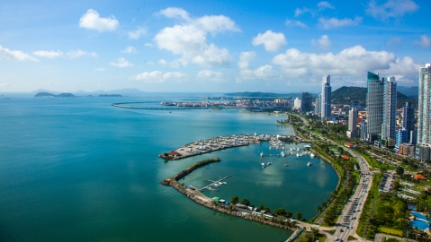 Panama City aerial view