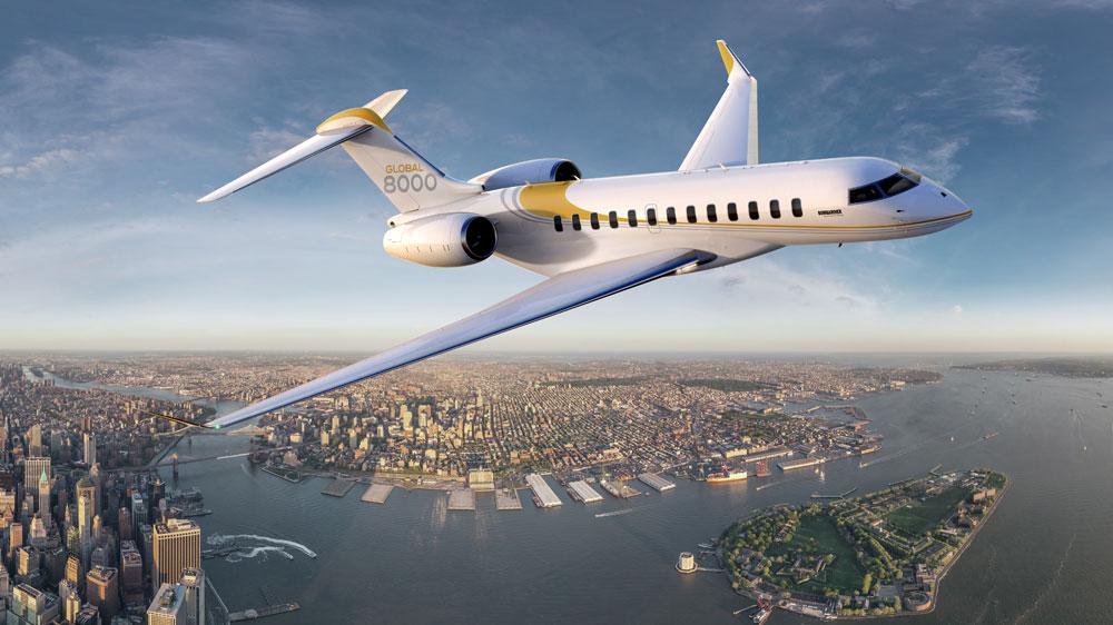 Bombardier Global 8000 longest range