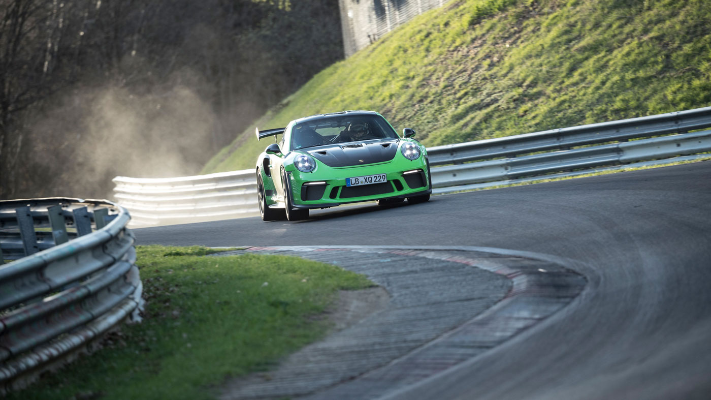 The 2019 Porsche 911 GT3 RS at Nürburgring.