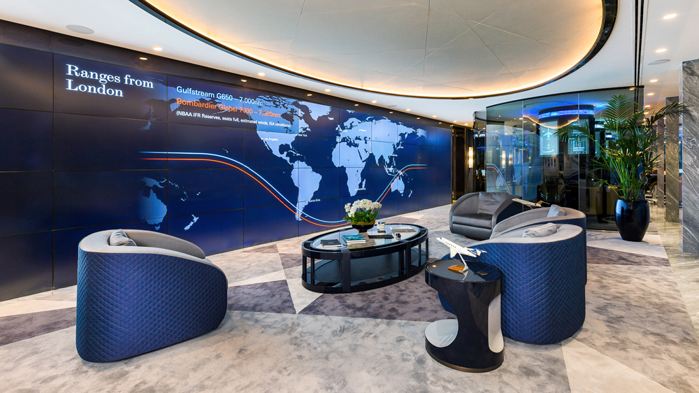 The Jet Business showroom