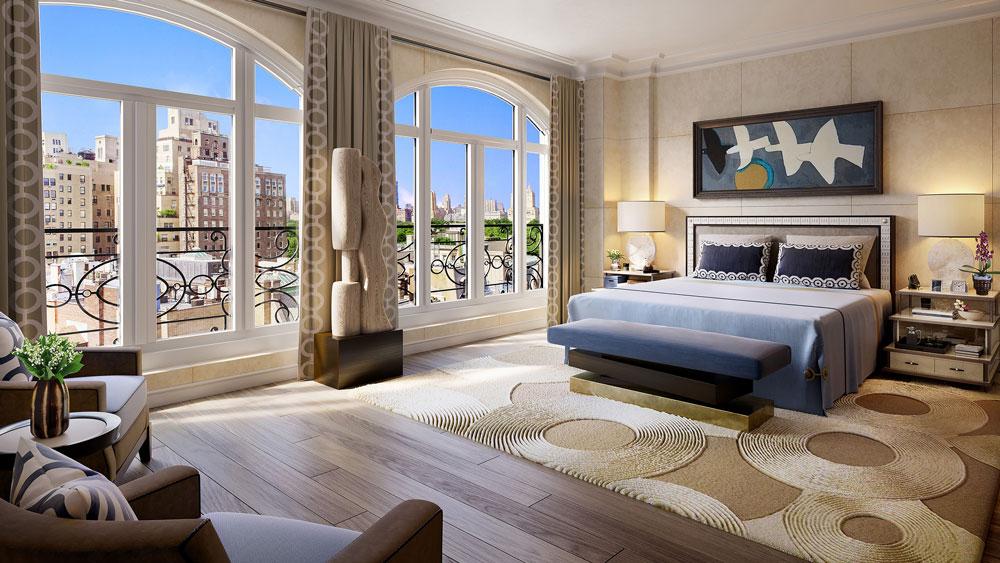 Master bedroom of 27 East 79th Street condo