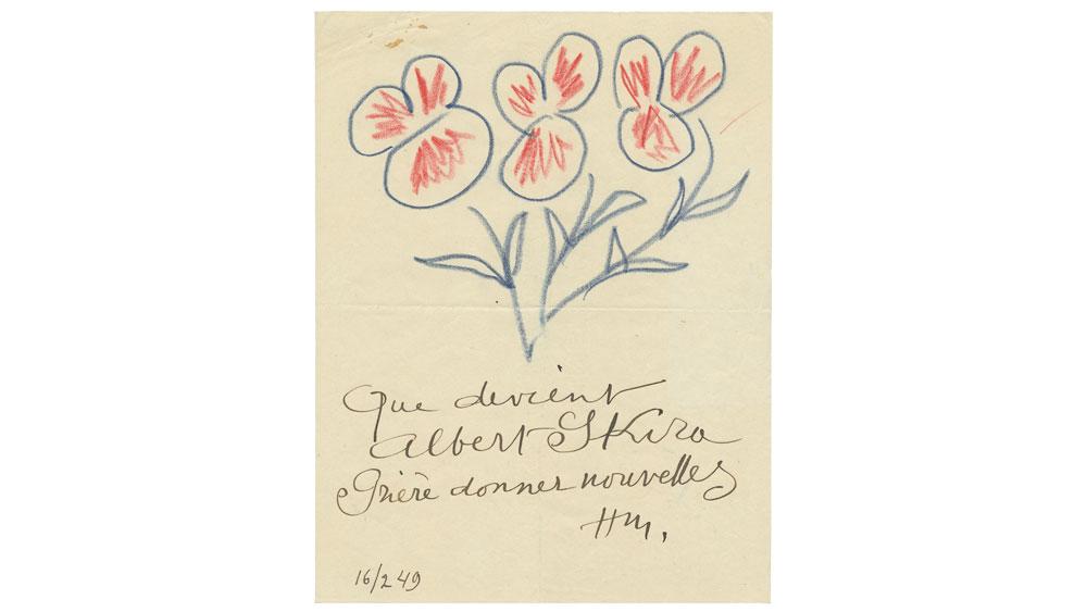 Fauvist Henri Matisse letter