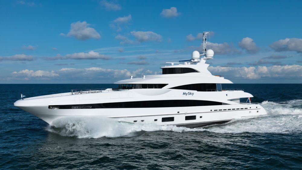 Heesen MySky Burgess charter yacht MYBA