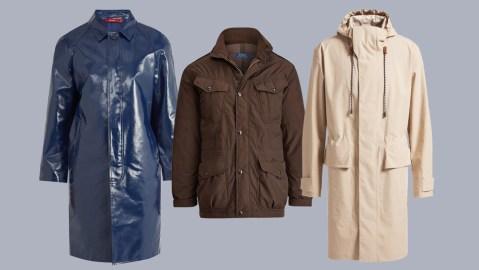 Lightweight Menswear Raincoats for Spring