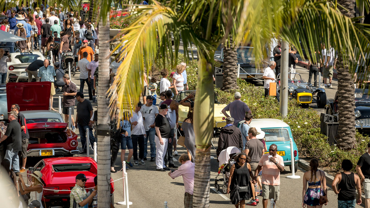 A scene from the Rodeo Drive Concours d'Elegance.