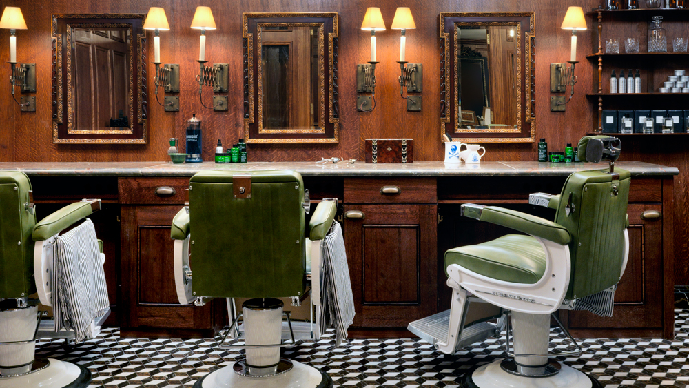 The Ned hotel barbershop
