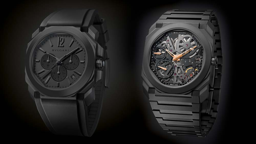 Bulgari Octo Ultranero Chronograph and Skeleton