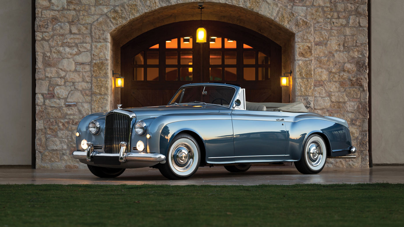 A 1956 Bentley S1 Continental Drophead Coupe with a body by Park Ward.