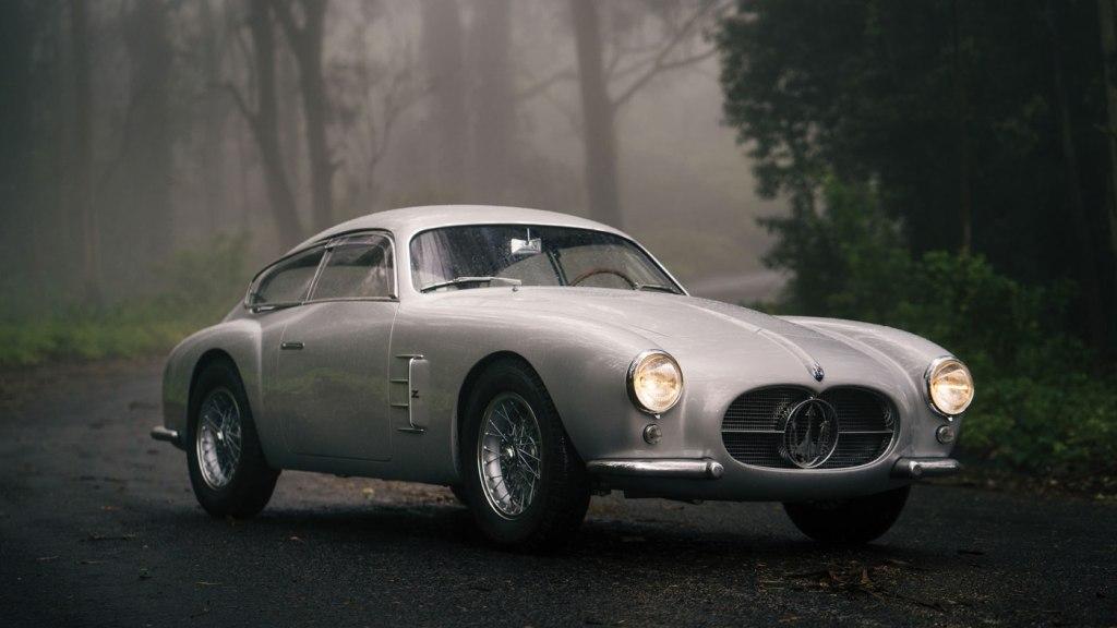 A 1956 Maserati A6G/2000 Zagato Berlinetta.