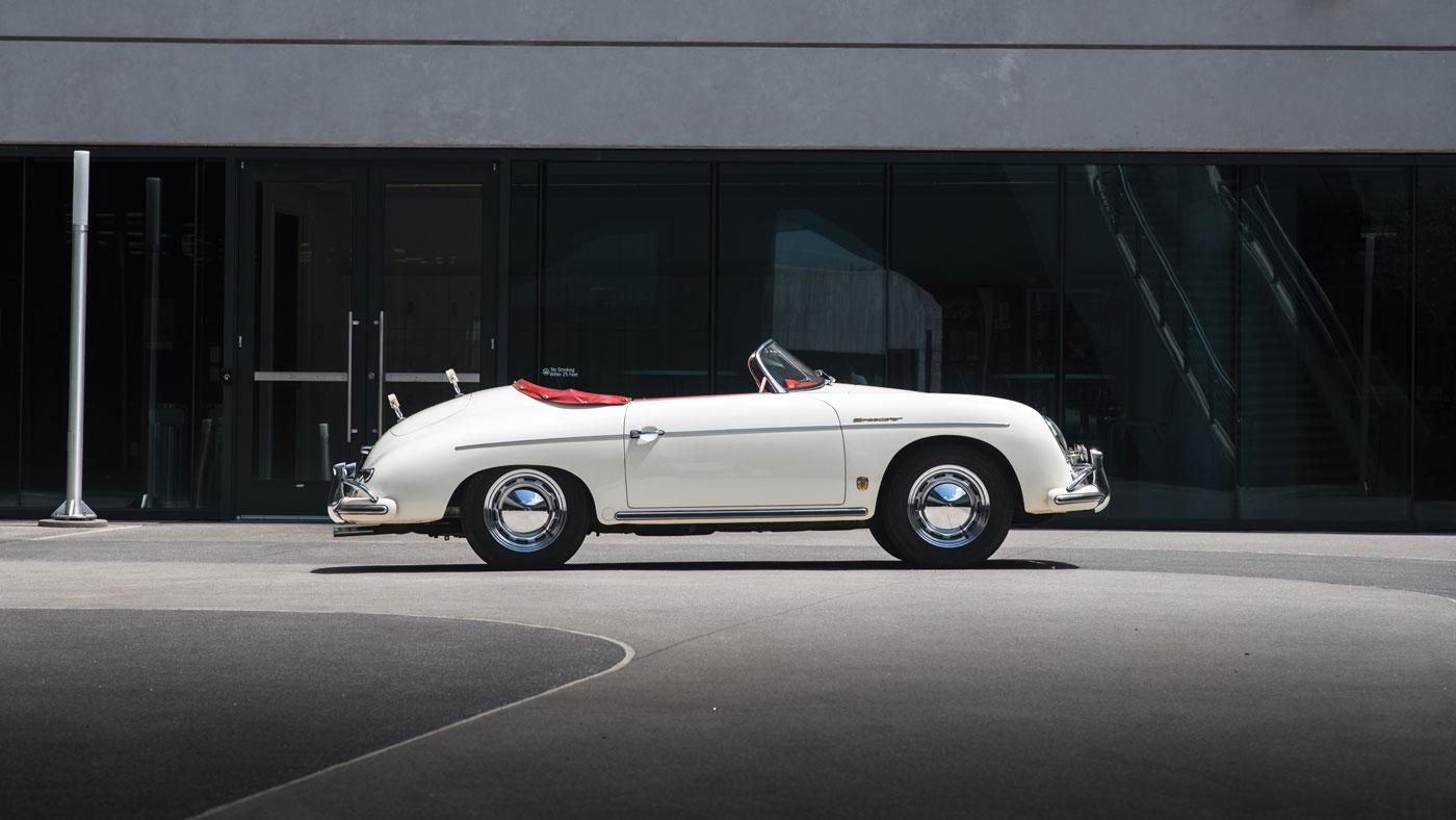 A 1956 Porsche 356 A Super Speedster.