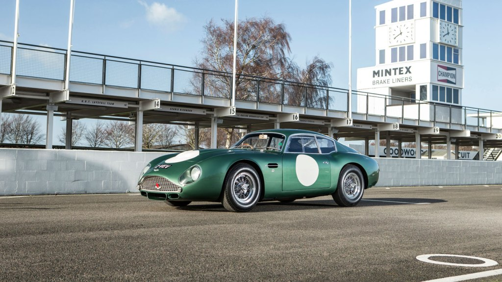 A 1961 Aston Martin 'MP209' DB4GT Zagato Grand Touring two-seat coupe.