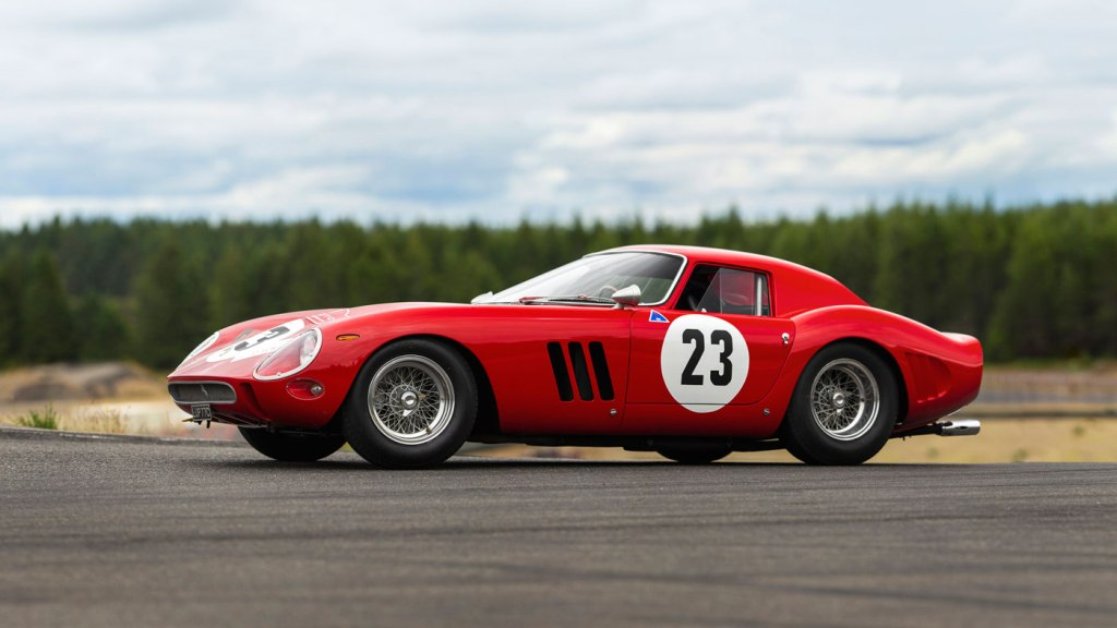 The 1962 Ferrari 250 GTO being presented at auction through RM Sotheby's at the 2018 Monterey Car Week.