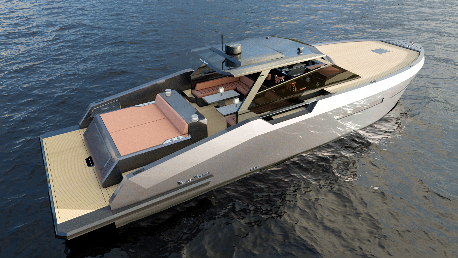 Mazu 52 hard top yacht