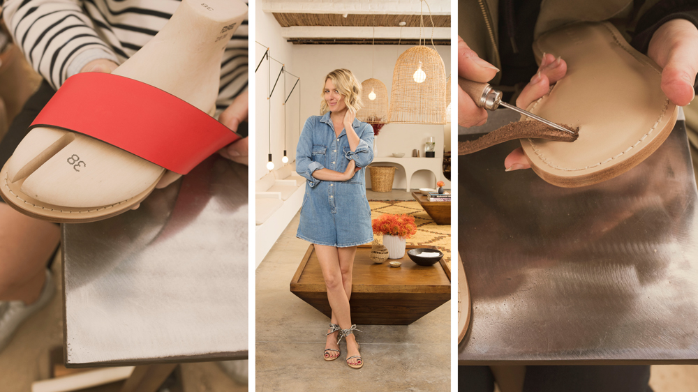 Anita Patrickson's custom sandals can be ready in 30 minutes.