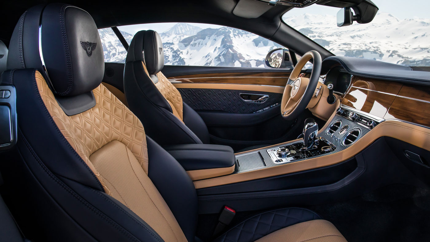 The Bentley Continental GT in the Alps.