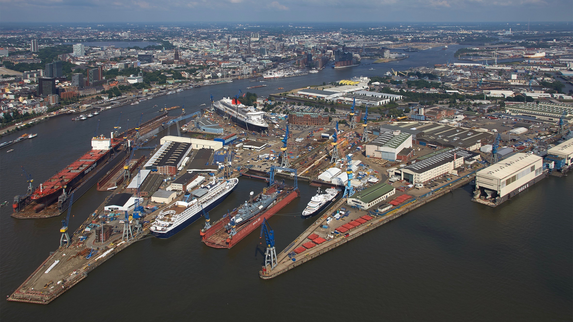 Lürssen Yacht Refit the Blohm + Voss Hamburg shipyard