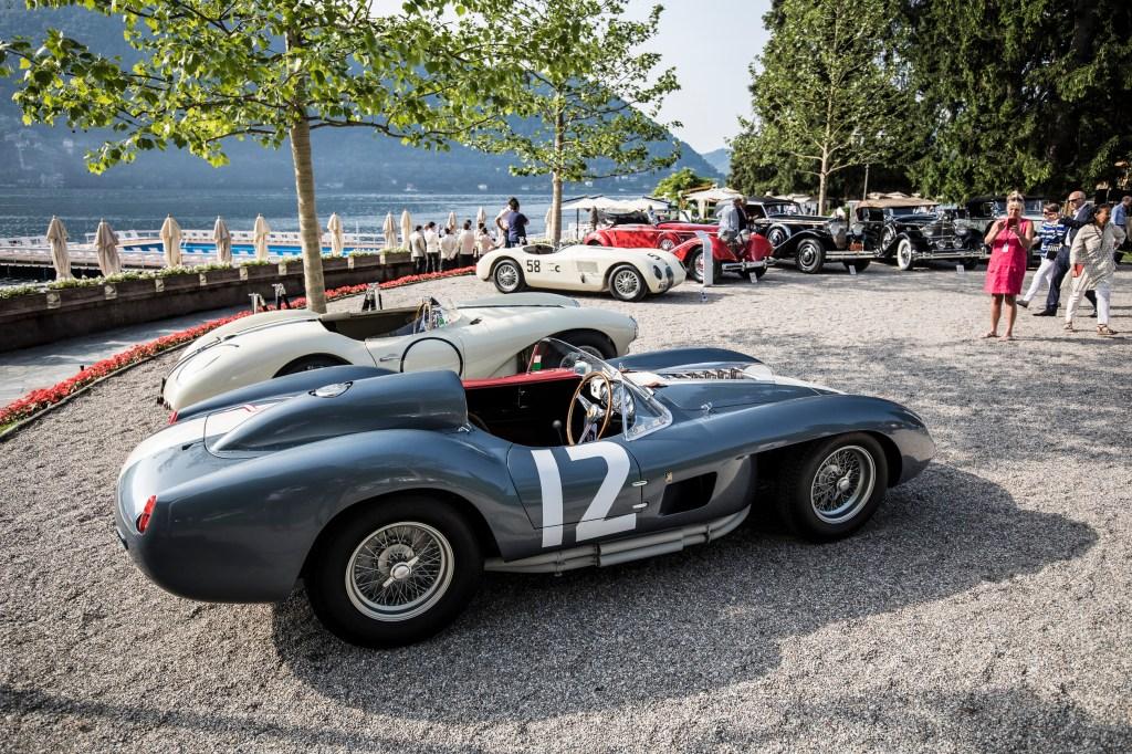 A 1958 Ferrari 335 Sport Spider Scaglietti at the 2018 Concorso d'Eleganza Villa d'Este.