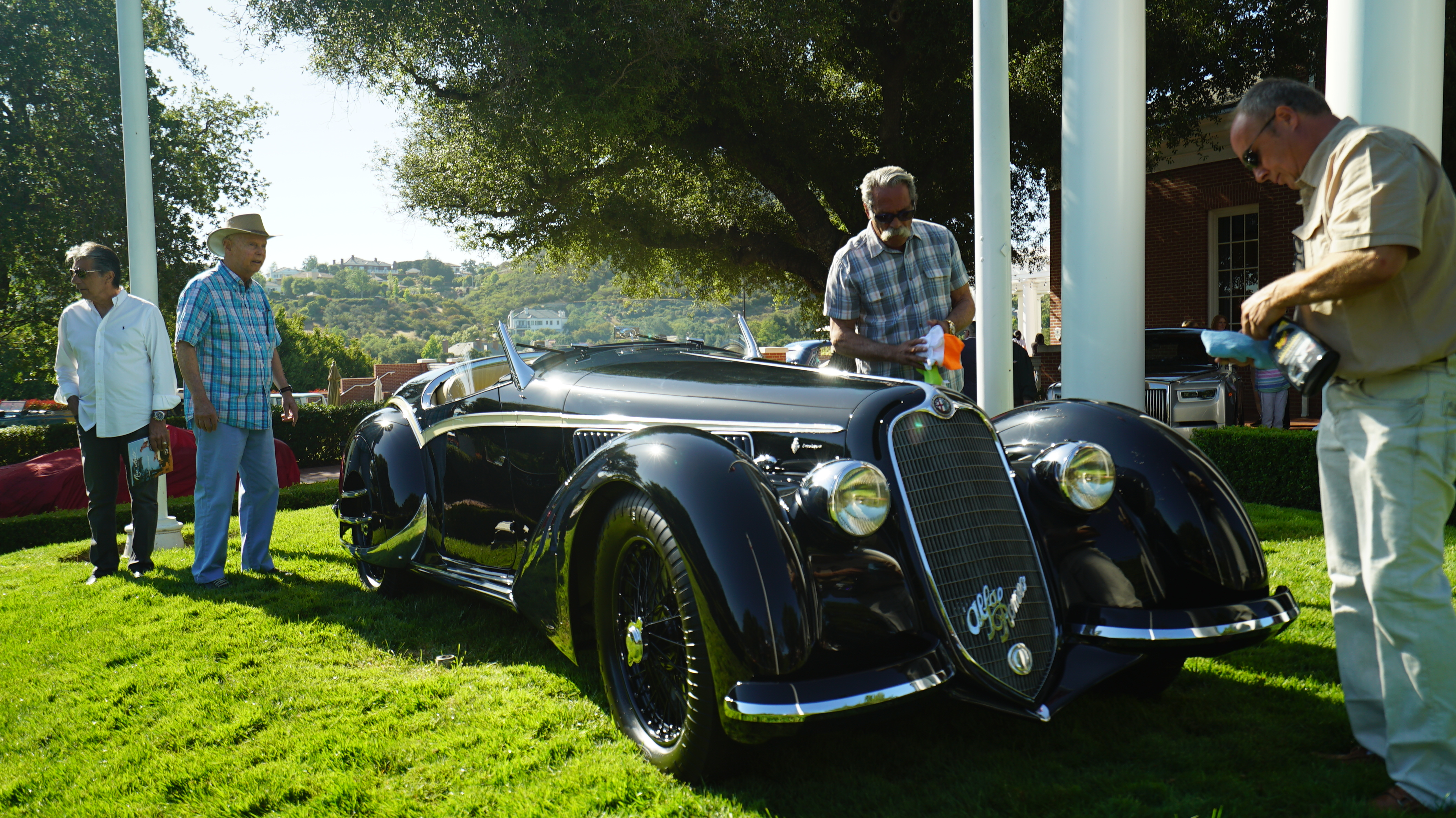 The 1938 Alfa Romeo 8C Corto Touring Spider owned by collector Ray Scherr.