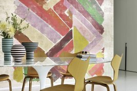 Colorful geometric wallpaper