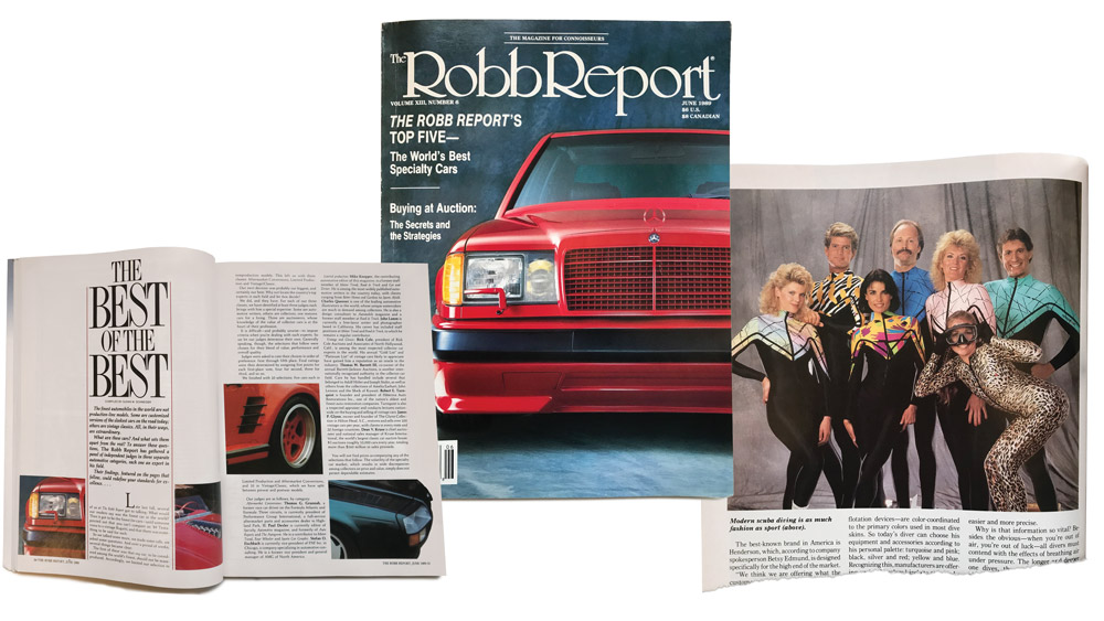 Robb Report magazine from 1989