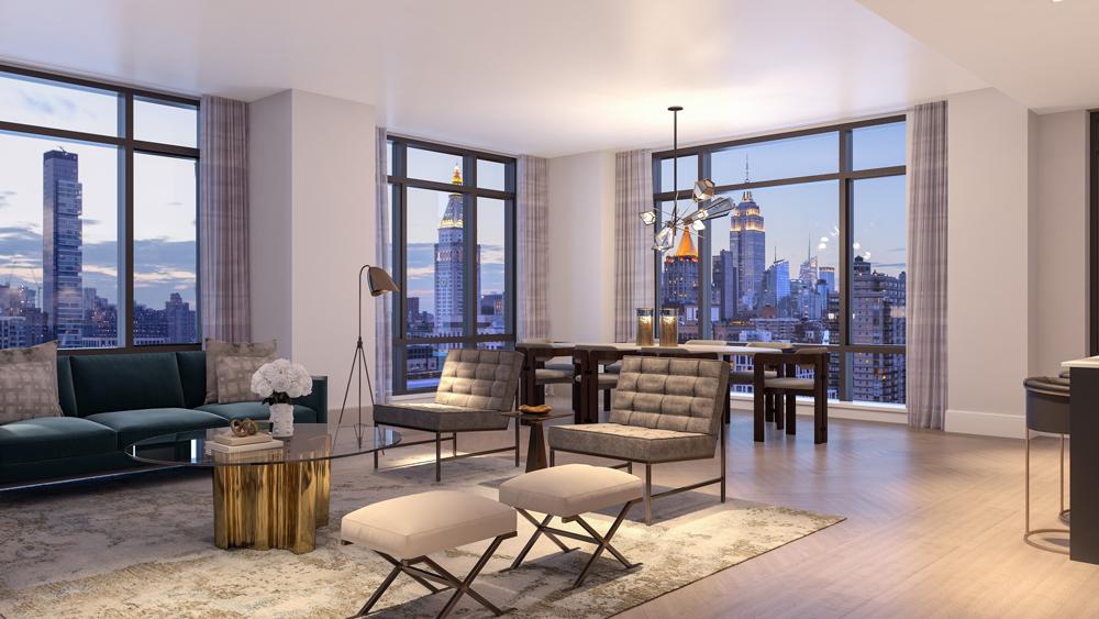 Gramercy Square living room