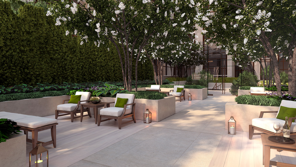 Gramercy Square courtyard