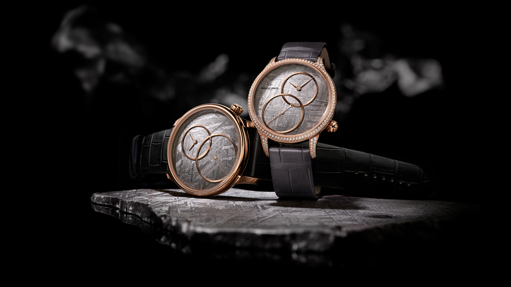 Jaquet Droz Grande Seconde Meteorite and Stromatolite Watches