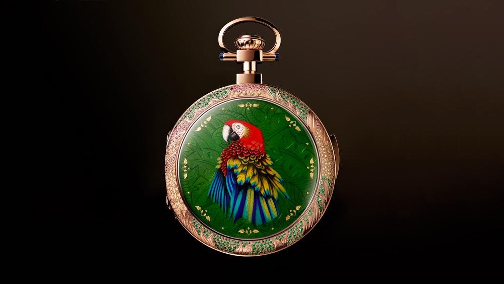 Jaquet Droz Tropical Bird Pocket Watch